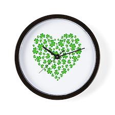 My Irish Heart Wall Clock