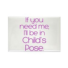 In Child's Pose Rectangle Magnet
