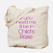 In Child's Pose Tote Bag