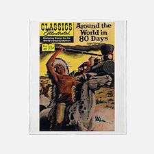 Around the World in Eighty Days Throw Blanket