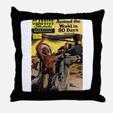Around the World in Eighty Days Throw Pillow