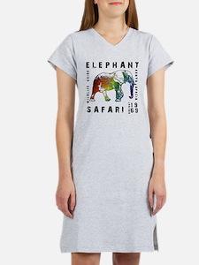 Elephant Safari Women's Nightshirt