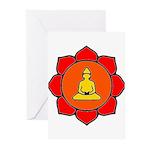 Sitting Lotus Greeting Cards (Pk of 20)