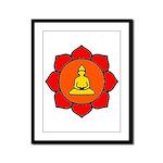 Sitting Lotus Framed Panel Print