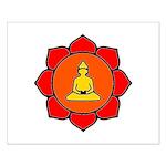 Sitting Lotus Small Poster