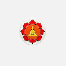 Sitting Lotus Mini Button
