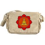 Sitting Lotus Messenger Bag