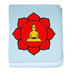 Sitting Lotus baby blanket