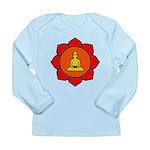 Sitting Lotus Long Sleeve Infant T-Shirt