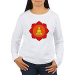 Sitting Lotus Women's Long Sleeve T-Shirt