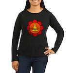 Sitting Lotus Women's Long Sleeve Dark T-Shirt