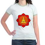 Sitting Lotus Jr. Ringer T-Shirt