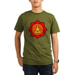 Sitting Lotus Organic Men's T-Shirt (dark)