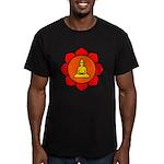 Sitting Lotus Men's Fitted T-Shirt (dark)