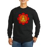 Sitting Lotus Long Sleeve Dark T-Shirt