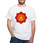 Sitting Lotus White T-Shirt
