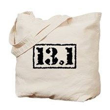 Half Marathon 13.1 Black Tote Bag