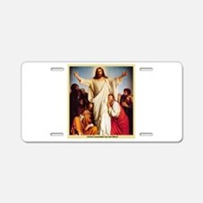 Christ Consolator Aluminum License Plate