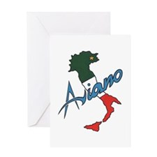 Boot of Italy (Aviano) Greeting Card