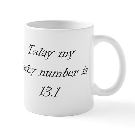 Lucky Number Black Mug
