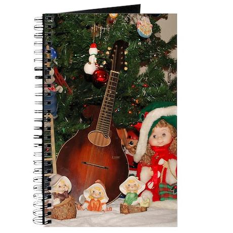 Christmas Mandolin and Girl Journal