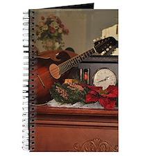 Christmas Mandolin on Clock Journal