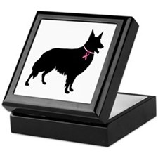 Collie Breast Cancer Support Keepsake Box