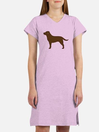 Chocolate Labrador Women's Nightshirt