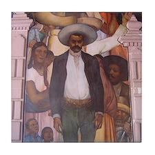 Emiliano Zapata Mexican Revolution Tile Coaster