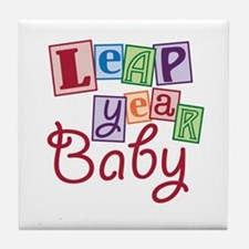 Leap Year Baby Tile Coaster