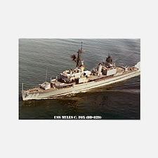 USS MYLES C. FOX Rectangle Magnet