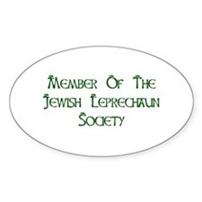 Jewish Leprechaun Society Decal