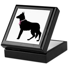 German Shepherd Breast Cancer Support Keepsake Box