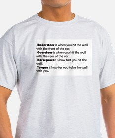 Car handling terms T-Shirt