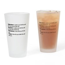 Car handling terms Drinking Glass