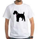 Fox Terrier Breast Cancer Support White T-Shirt