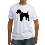 Fox Terrier Breast Cancer Support Fitted T-Shirt