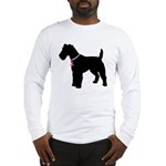 Fox Terrier Breast Cancer Support Long Sleeve T-Sh