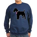 Fox Terrier Breast Cancer Support Sweatshirt (dark