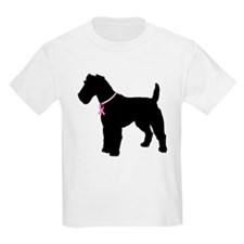 Fox Terrier Breast Cancer Support T-Shirt