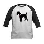 Fox Terrier Breast Cancer Support Kids Baseball Je