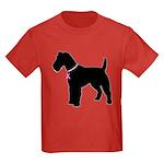 Fox Terrier Breast Cancer Support Kids Dark T-Shir