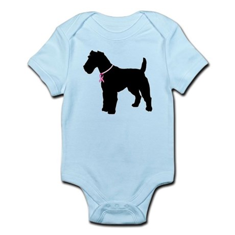Fox Terrier Breast Cancer Support Infant Bodysuit