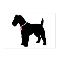 Fox Terrier Breast Cancer Support Postcards (Packa