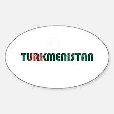 Turkmenistan Sticker (Oval)
