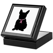 French Bulldog Breast Cancer Support Keepsake Box