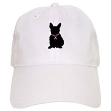 French Bulldog Breast Cancer Support Baseball Cap