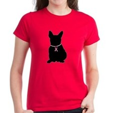 French Bulldog Breast Cancer Support Tee