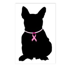 French Bulldog Breast Cancer Support Postcards (Pa