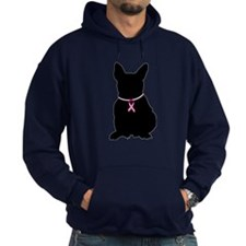 French Bulldog Breast Cancer Support Hoodie